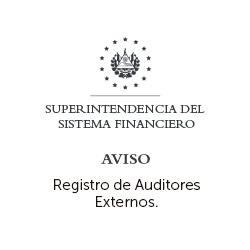 Registro de los Auditores Externos de los Integrantes del Sistema Financiero