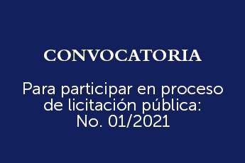 Convocatoria a Licitación Pública 01/2021-SSF